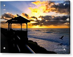 La Jolla At Sunset By Diana Sainz Acrylic Print by Diana Sainz