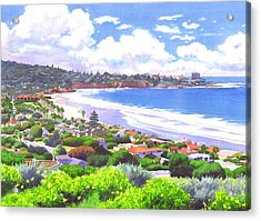 La Jolla California Acrylic Print by Mary Helmreich