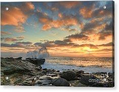 La Jolla Cove At Sunset Acrylic Print by Eddie Yerkish