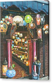 La Lampareria Albacin Granada Acrylic Print by Richard Harpum