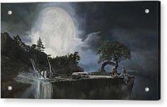La Luna Bianca Acrylic Print by Guido Borelli