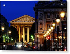 La Madeleine At Night Acrylic Print by Colin Woods