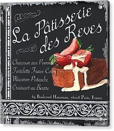 La Patisserie Acrylic Print by Debbie DeWitt