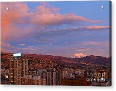 La Paz Twilight Acrylic Print by James Brunker