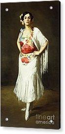 La Reina Mora Acrylic Print by Robert Henri