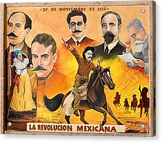 La Revolution Mexicana Acrylic Print by Christine Till