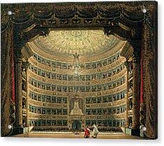 La Scala, Milan, During A Performance Acrylic Print by Italian School