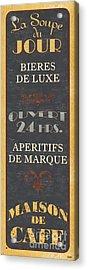 La Soupe Du Jour Acrylic Print by Debbie DeWitt