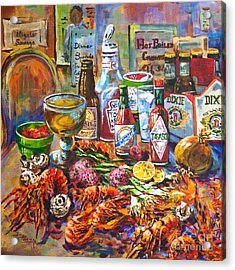 La Table De Fruits De Mer Acrylic Print by Dianne Parks