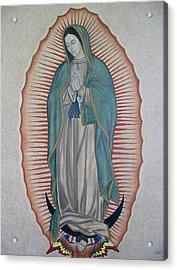 La Virgen De Guadalupe Acrylic Print by Lynet McDonald