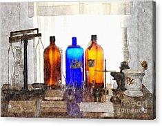 Lab Tools Acrylic Print by Liane Wright