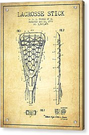 Lacrosse Stick Patent From 1970 -  Vintage Acrylic Print by Aged Pixel