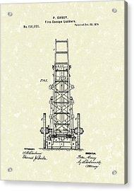 Ladders 1874 Patent Art Acrylic Print by Prior Art Design