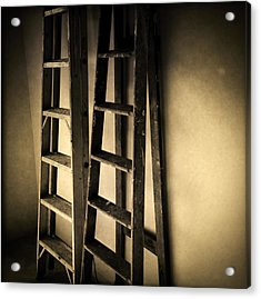 Ladders Acrylic Print by Les Cunliffe