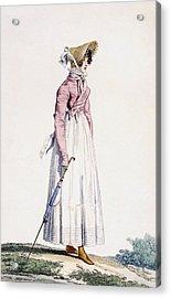 Ladies Summer Dress Acrylic Print by Antoine Charles Horace Vernet