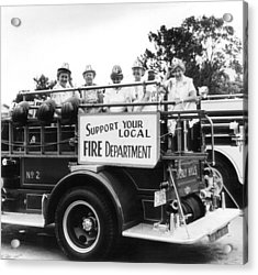 Ladies Supporting Fire Department Acrylic Print by Retro Images Archive