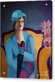 Lady Blue Acrylic Print by Sydne Archambault