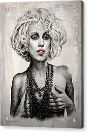 Lady Gaga Acrylic Print by Andrew Read