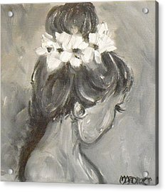 Lady In Grey Acrylic Print by Melissa Torres