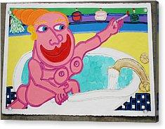 Lady In The Tub Acrylic Print by Matthew Brzostoski