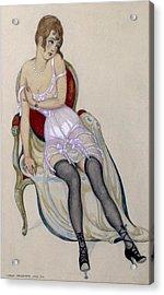 Lady In Underwear, 1917 Acrylic Print by Gerda Marie Frederike Wegener