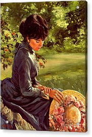 Lady Katherine Acrylic Print by Michael Swanson
