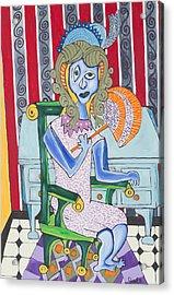 Lady Laura Acrylic Print by Daniel Burtea