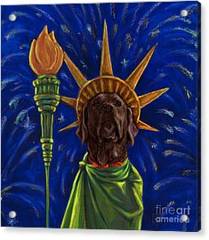 Lady Liberty - Chocolate Acrylic Print by Kathleen Harte Gilsenan