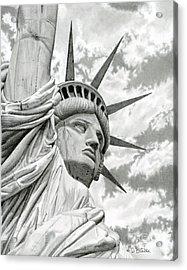 Lady Liberty  Acrylic Print by Sarah Batalka