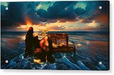 Lady Of The Ocean Acrylic Print by Georgiana Romanovna