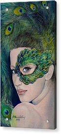 Lady Peacock Acrylic Print by Dorina  Costras
