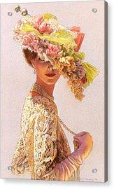 Lady Victoria Victorian Elegance Acrylic Print by Sue Halstenberg