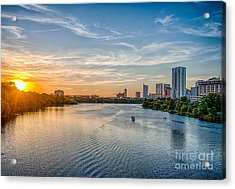 Ladybird Lake At Sunset Acrylic Print by Tod and Cynthia Grubbs