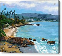 Laguna Beach Winter Acrylic Print by Alice Leggett