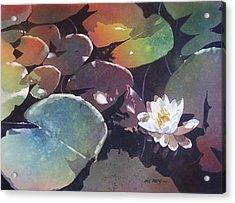 Lake Garden Acrylic Print by Kris Parins