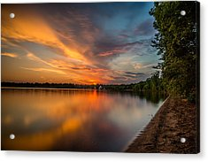 Lake Harriet Grand Finale Acrylic Print by Mark Goodman