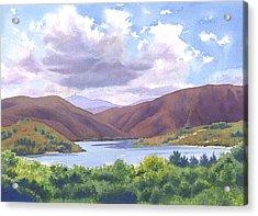 Lake Hodges San Diego Acrylic Print by Mary Helmreich