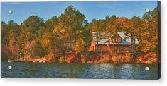 Lake House Acrylic Print by Brenda Bryant