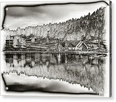 Lake House Reflection Acrylic Print by Ron White