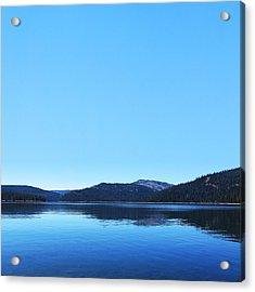 Lake In California Acrylic Print by Dean Drobot