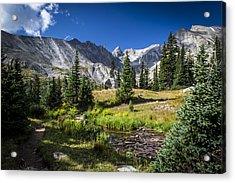 Lake Isbelle Mountains Acrylic Print by Michael J Bauer