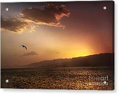 Lake Mead Sunrise Acrylic Print by Robert Bales