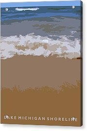 Lake Michigan Shoreline Acrylic Print by Michelle Calkins