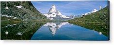 Lake, Mountains, Matterhorn, Zermatt Acrylic Print by Panoramic Images