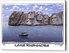 Lake Rushmore Acrylic Print by Mike McGlothlen