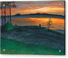 Lake Saimaa In Finland Acrylic Print by Phillip Compton
