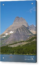 Lake Sherburne In Glacier National Park Acrylic Print by Natural Focal Point Photography