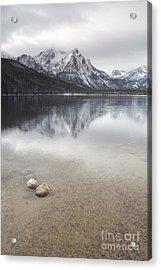 Lake Stanley Idaho Sawtooth Mountain Range Acrylic Print by Christopher Boswell