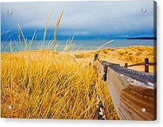 Lake Superior Beach Acrylic Print by John McGraw