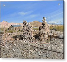 Lake Valley-new Mexico  Acrylic Print by Guido Borelli